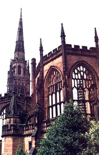 Coventry - Coventry Cathedral 1997 #Coventry #Cathedral