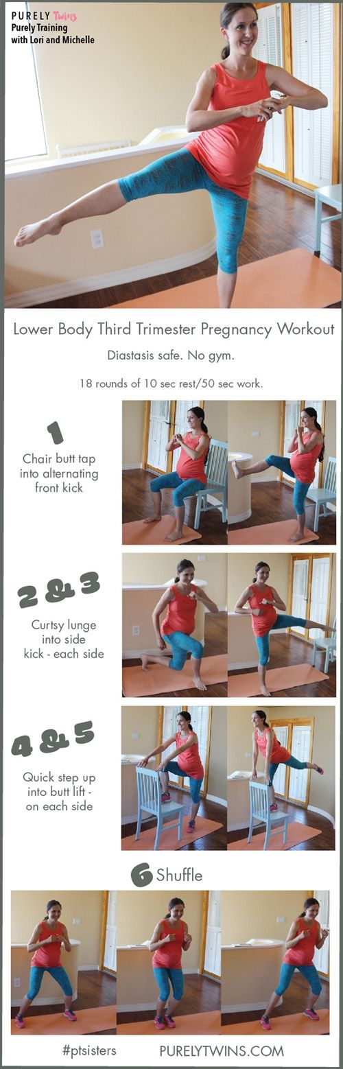 Try out this Lovely Legs Workout for a fit pregnancy! It's actually great even if you're NOT pregnant! This workout is great to do during your 3rd trimester. A workout that strengthens your core and lower body to help prepare you for labor. Give this circuit a try. Your leg day just got better. No gym required. All you need is a chair. #weightlossmotivation
