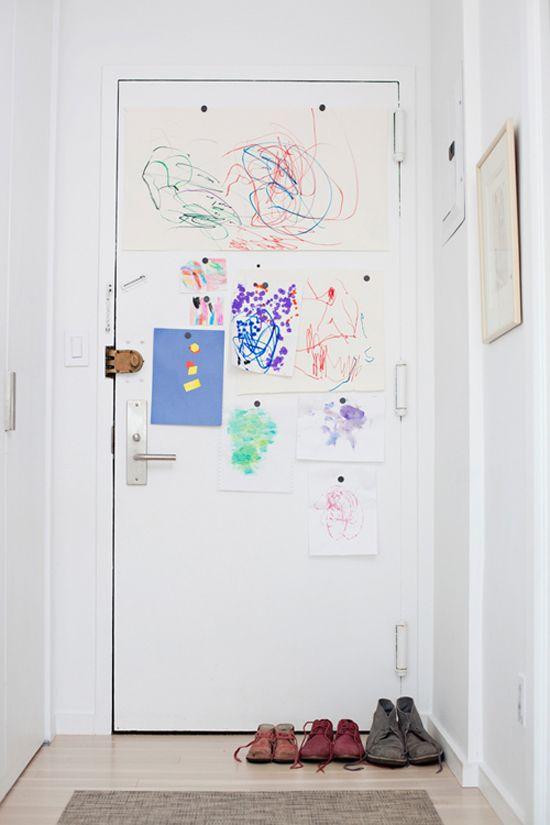 : Children Artworks, The Doors, Children Rooms, Display Children, Front Doors, Child Art, Kids Artworks, Doors Art, Kids Rooms