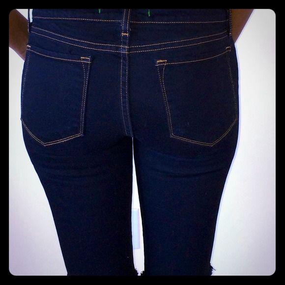 J brand cut offs J brand denim cut offs in black, worn once maybe size 28 J Brand Jeans