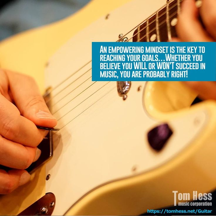 An empowering mindset is the key to reaching your musical goals.