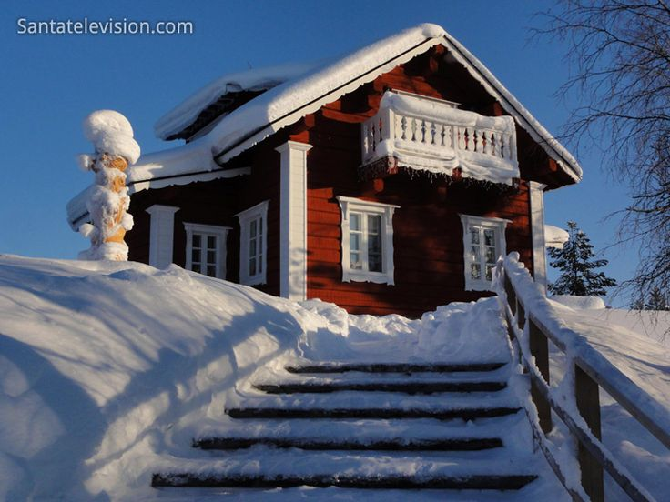 La maison Santa's Resort Kakslauttanen à Saariselkä en Laponie finlandaise