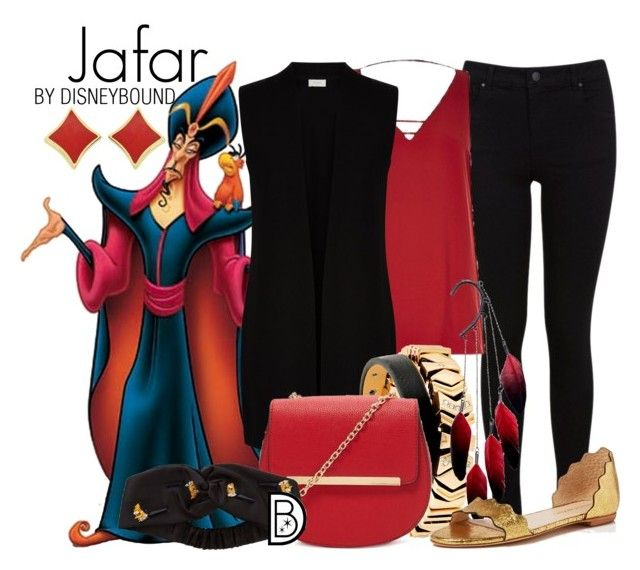 Jafar by leslieakay on Polyvore featuring polyvore, fashion, style, Hobbs, Miss Selfridge, Loeffler Randall, Forever 21, GUESS, Anni Jürgenson, Fendi, clothing, disney and disneybound
