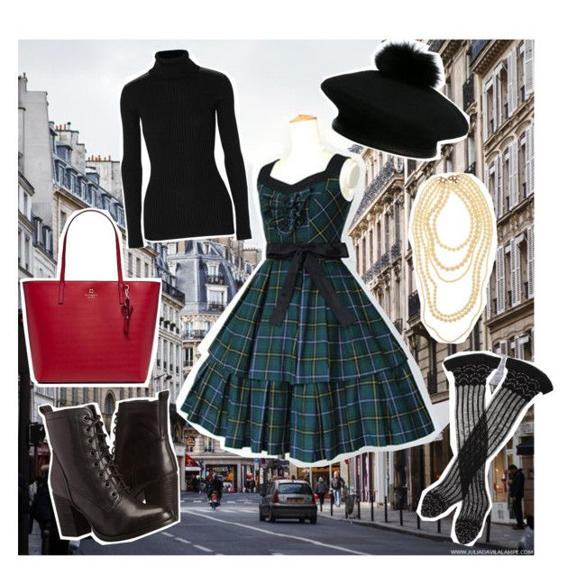 City girl by mimielizabetha on Polyvore featuring Autumn Cashmere, Trasparenze, Steve Madden, Kate Spade and Eugenia Kim