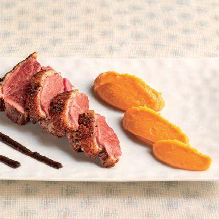 magret de canard, recette magret de canard, recette purée patates douces, recette purée gingembre, recette canard patates douces gingembre