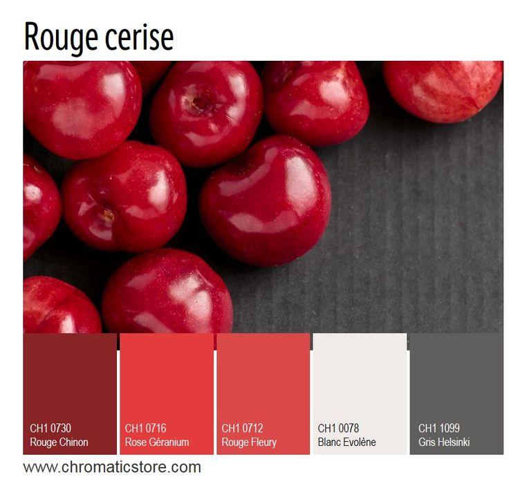 D'inspiration japonaise, cette palette profonde et riche convient bien à une salle à manger. www.chromaticstore.com #inspiration #deco #rouge