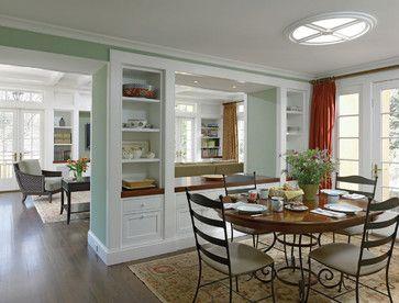 26 best images about divider between kitchen on pinterest for Kitchen dining hall design