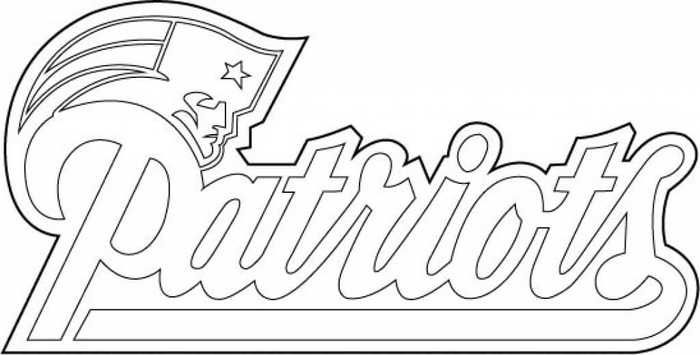 New England Patriots Coloring Pages Printable New England