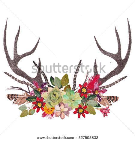 Antlers - stock photo