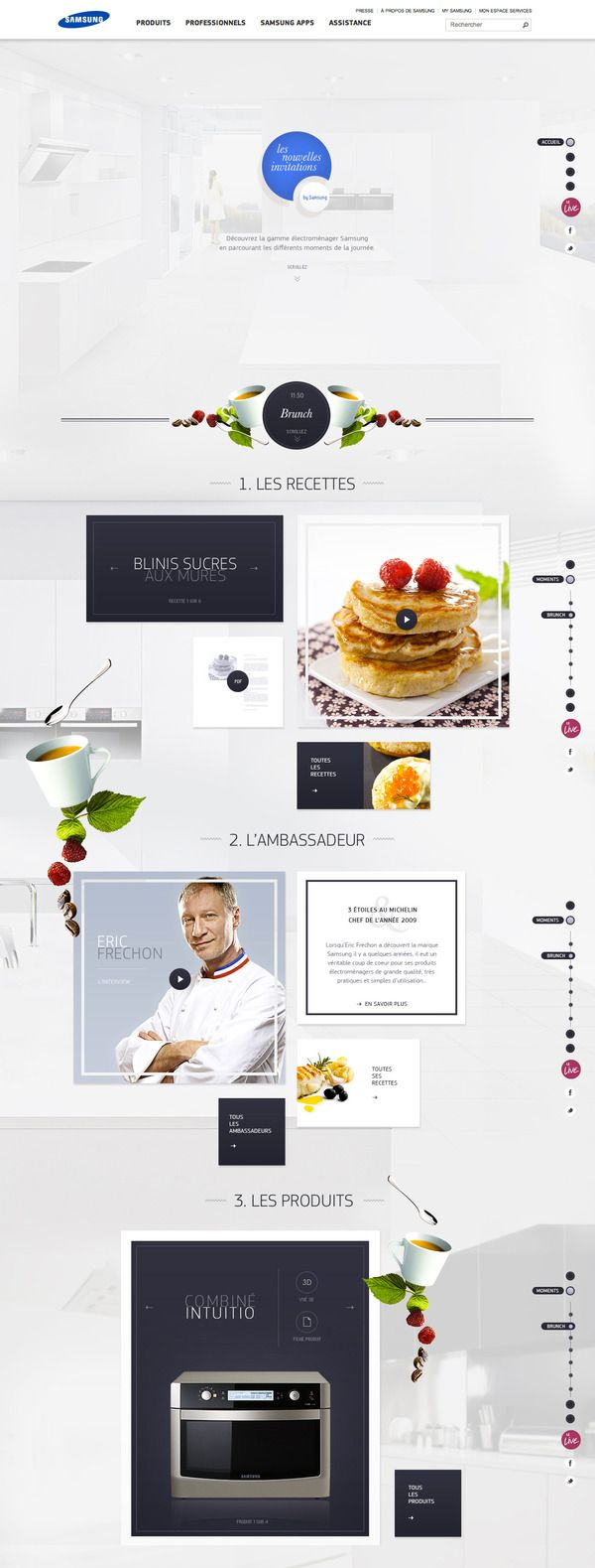 Nouvelles Invitations by #Samsung by yul, via #Behance #Webdesign