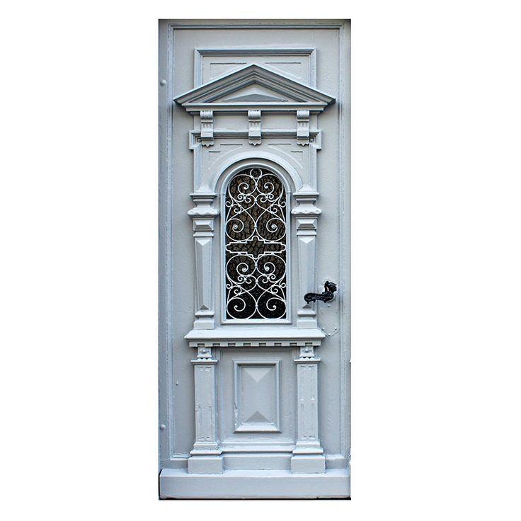 klassieke witte deur sticker