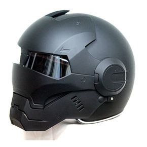 MASEI 610 ATOMIC-MAN IRON MOTORCYCLE DOT HELMET MATT BLACK