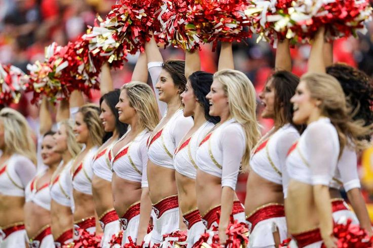 KANSAS CITY, MO - SEPTEMBER 25: Kansas City Chiefs cheerleaders celebrate after a touchdown against the New York Jets at Arrowhead Stadium during the second quarter of the game on September 25, 2016 in Kansas City, Missouri. Photo: Jamie Squire, Getty Images / 2016 Getty Images
