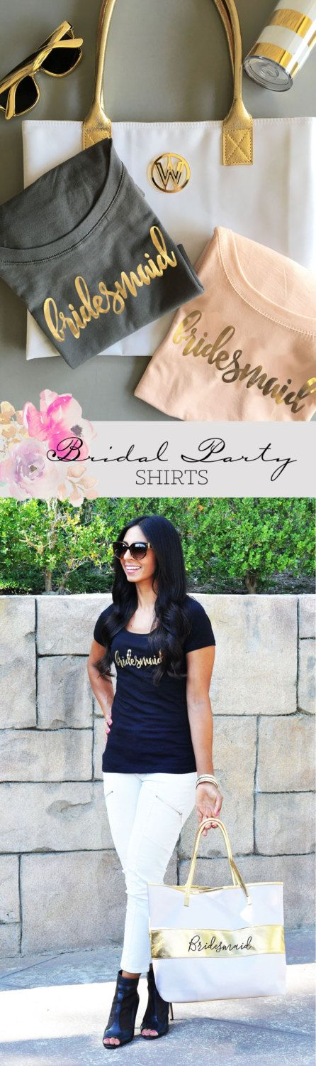 Bridesmaid shirts Bridal Party Shirts Bachelorette Party Shirts by ModParty