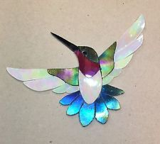 PRECUT STAINED GLASS KIT MALE HUMMINGBIRD MOSAIC INLAY GARDEN STONE CRAFT in Crafts, Glass & Mosaics, Glass Art & Mosaic Supplies, Kits & Patterns | eBay