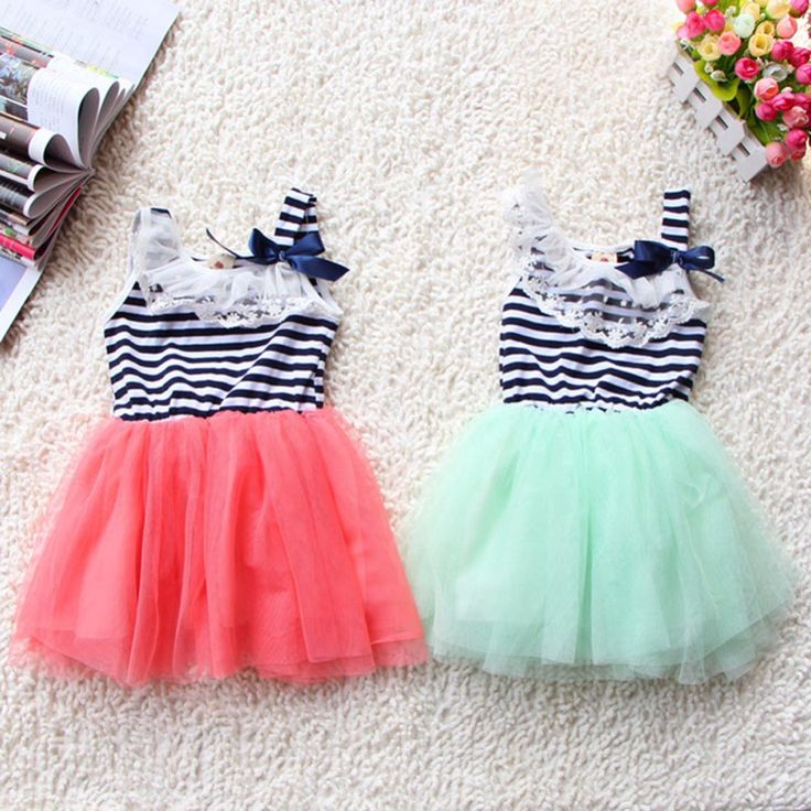Striped Baby Girls Dress Lace Collar Bowknot Dress Kids Clothes Tutu Tulle Dresses Party Wedding #>=#>=#>=#>=#> Click on the pin to check out discount price, color, size, shipping, etc. Save and like it!