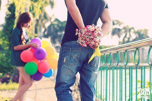 : Girls, Photo Ideas, Quote, Future Boyfriends, Couple, Flowers, Balloon, Romance, Sweet Surpri