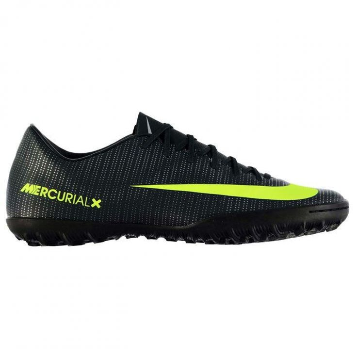 Nike Mercurial Victory CR Mens Astro Turf Trainers (Black-Volt) #sports #