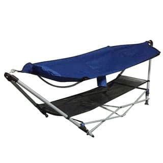 Foldable Leisure Enjoyment Royal Blue Outdoor Hammock and Hammock Stand Set https://ak1.ostkcdn.com/images/products/14780927/P21302714.jpg?impolicy=medium