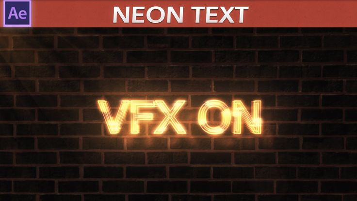After Effects Neon Text Tutorial