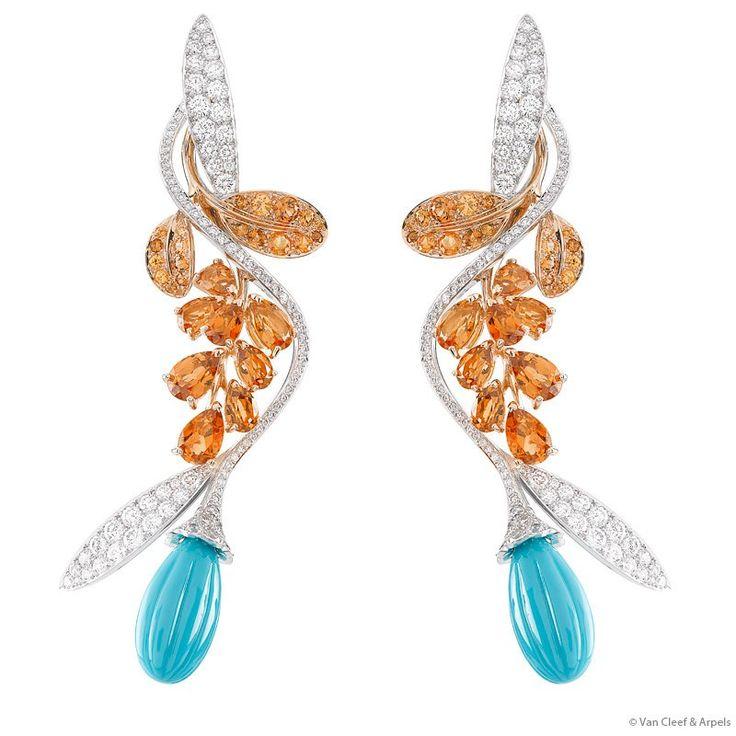 Van Cleef & Arpels Fleurs d'Orient décor earrings