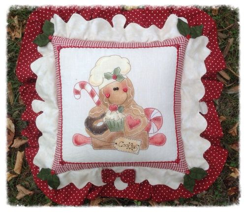 Cartamodello cuscino stitchery ginger pasticcere