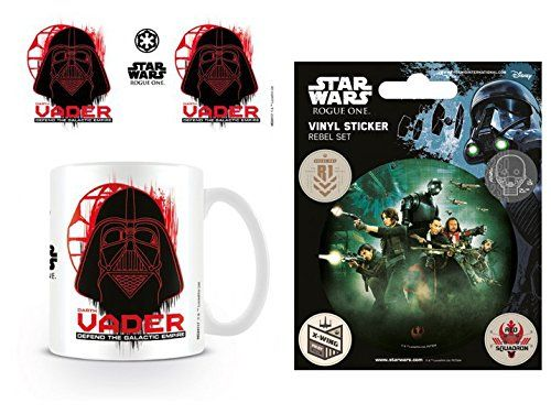 Set Star Wars Rogue One Darth Vader Photo Coffee Mug 4x3 inches And 1 Star Wars Sticker Adhesive Decal 5x4 inches * Read more  at the image link.