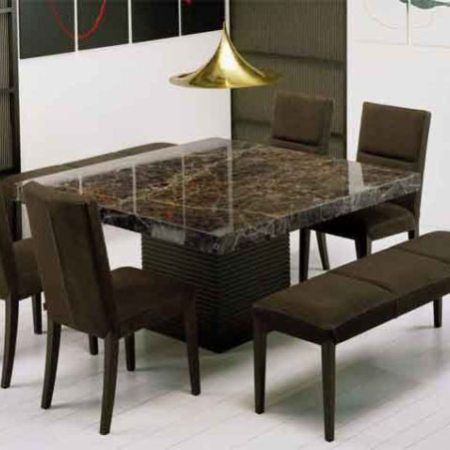 Dining Table Marble Room, Stone Dining Room Furniture