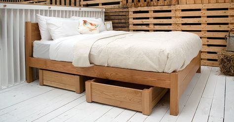 You can select from our range of pine colour finishes and solid hardwoods for you storage box to be made in so you're able to choose an option which fits with your current wooden bed frame. Each of our storage boxes is individually handmade by our expert team of craftsman who will work hard to ensure the quality of your bed frame accessory.