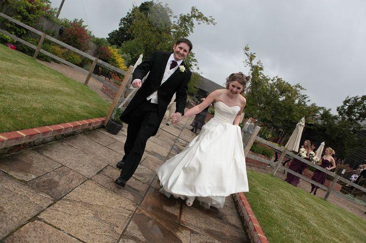 Bride and groom at The Barnyard