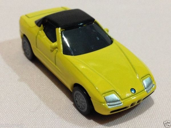 """BMW Z1 Die-cast Car Pull Back Action Promotional Limited Novelty Toy Yellow 2"""" - http://hobbies-toys.goshoppins.com/diecast-toy-vehicles/bmw-z1-die-cast-car-pull-back-action-promotional-limited-novelty-toy-yellow-2/"""