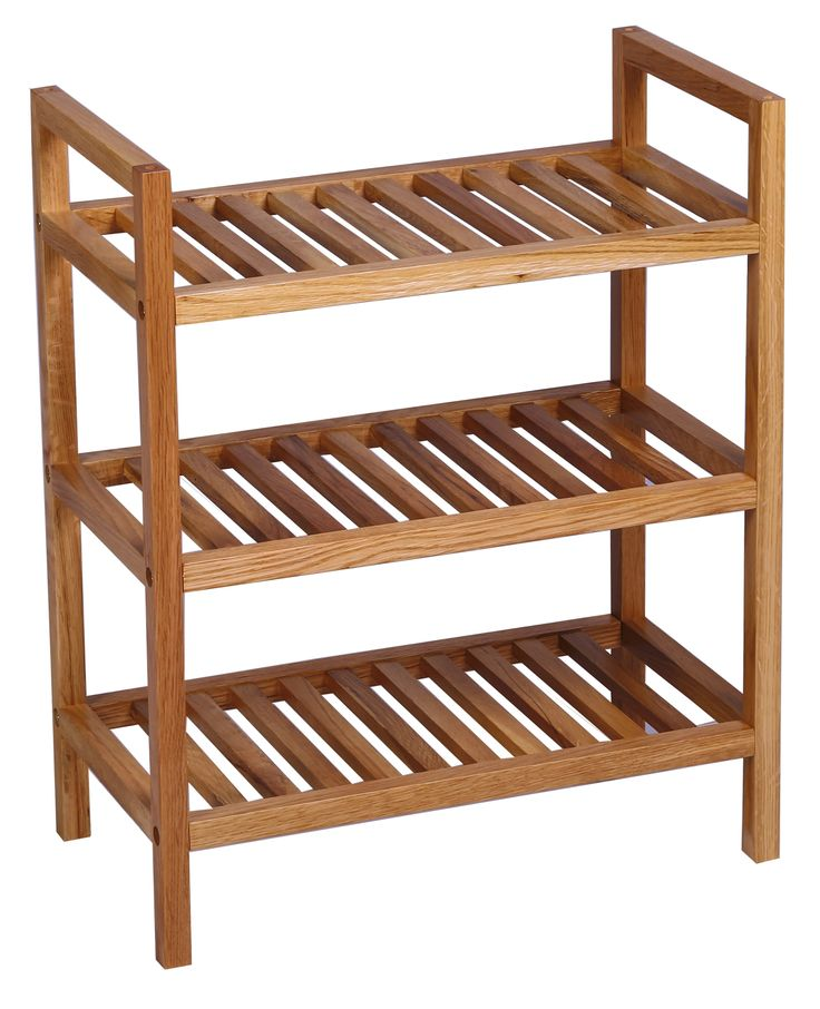 Waverly Oak Narrow 3 Tier Stackable Shoe Rack - Shoe Rack & Storage Units - Hallway | Hallowood Furniture