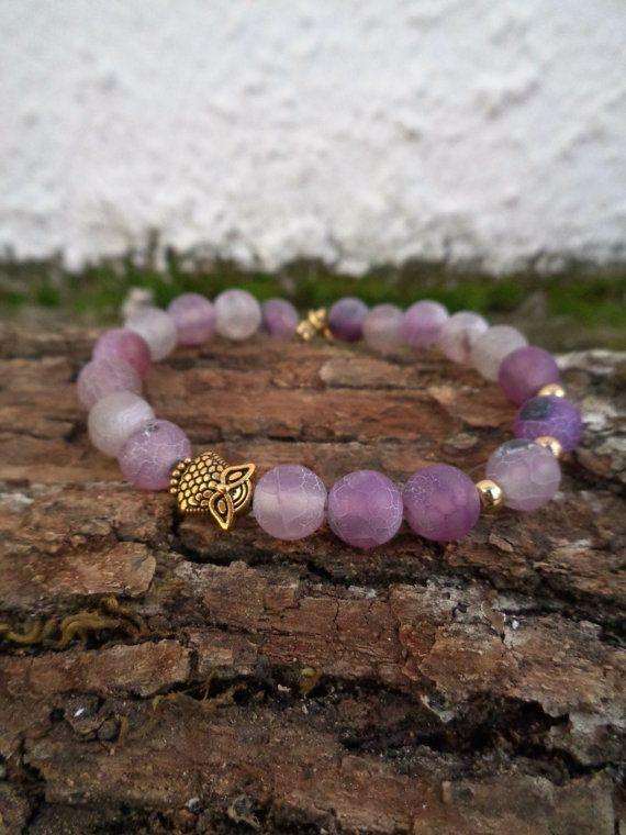 Purple fire OOAK friendship bracelet / Bohemian bracelet / Summer bracelet/ jade beaded bracelet / semiprecious/ Ethnic bracelet