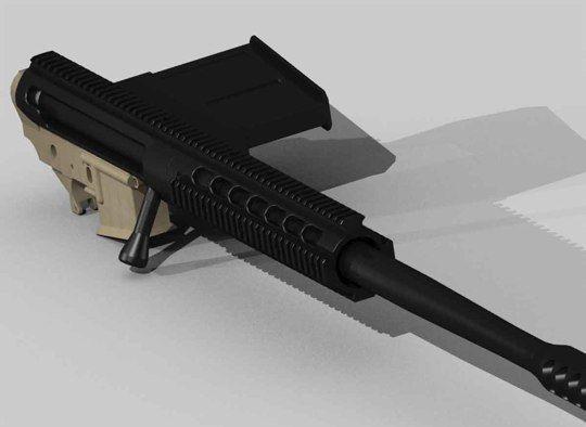 Tactilite T2 .50 BMG upper for AR platform. $2000 from Zel Custom
