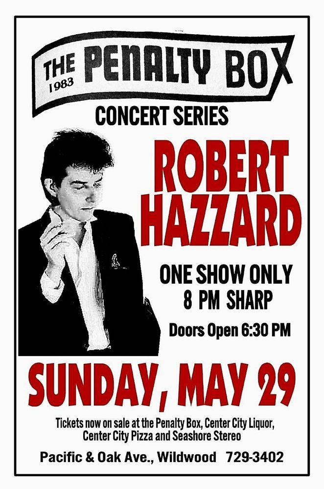 ROBERT HAZZARD 1983 Penalty Box Wildwood NJ Art Rendition POSTER