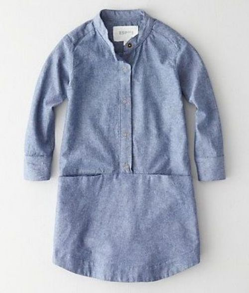 | Steven AlanMono Lake Dress is a snap front, chambray shirtdress in a relaxed cut |
