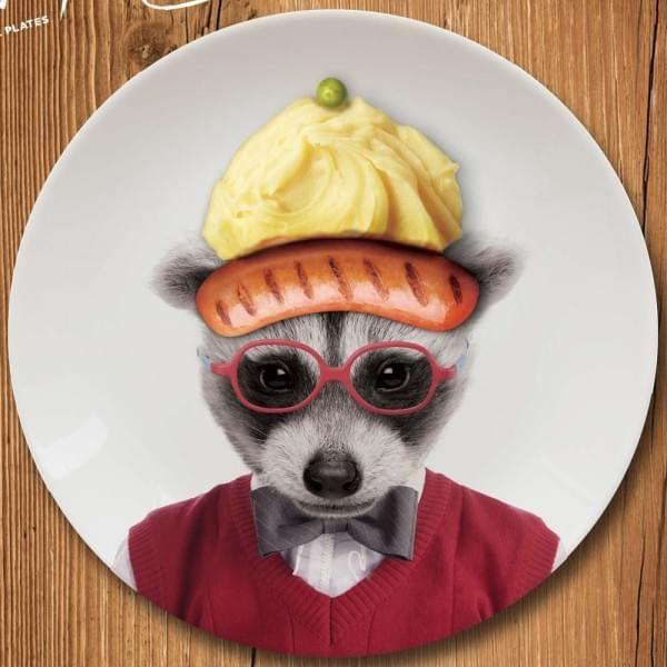 petite assiette Wild Dining bébé raton laveur - cadeau maestro 12€