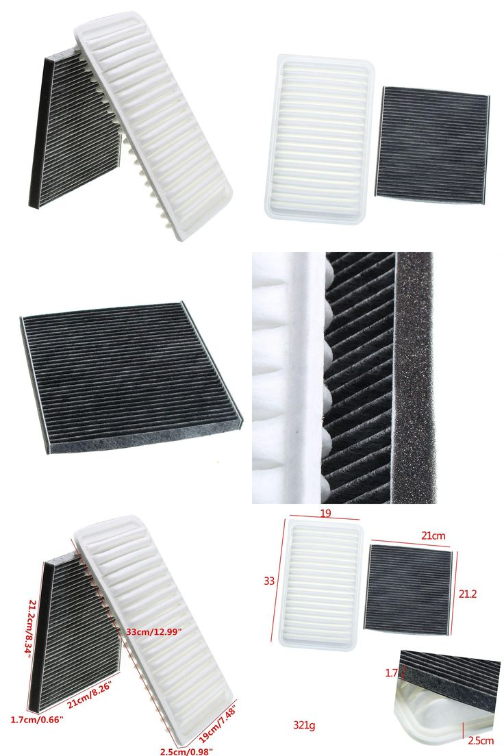 [Visit to Buy] Cabin Engine Air Filter Combo Set For Toyota Camry 2002-2006 for Sienna 2004-2010 #Advertisement