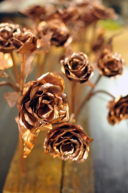 Copper Roses -- click to find the DIY on instructables.com