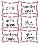 Math manipulative labels www.mrsfreshwaterclass.blogspot.com