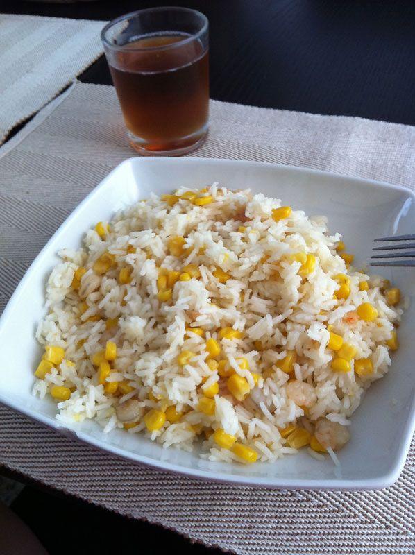 Receta de Salteado de arroz con gambas al ajillo