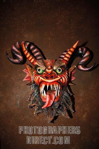 Indonesian Masks | Paper carnival devil mask , Chitre , Herrera Province , Panama . stock ...
