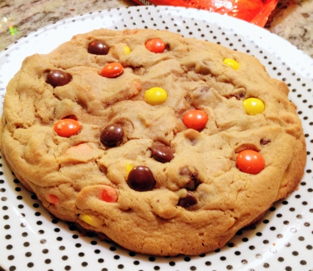 ... butter icing peanut butter reeses pieces giant cookiefor one recipes