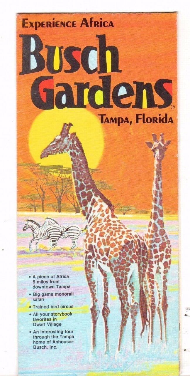 Undated Vacation Travel Brochure Busch Gardens Tampa FL Experience Africa - Advintage Plus