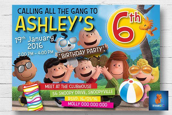 Snoopy Invitation  Pool Party Invitation  Snoopy by InviteART