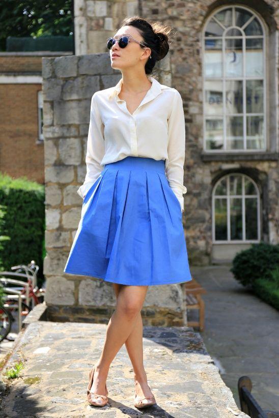 Sweeties in my Pockets Chardon Skirt by WorshipBlues #sewing #skirts #deeranddoe