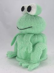 Ravelry: The Bog Frog. Toilet Roll Cover pattern by Knitting by Post