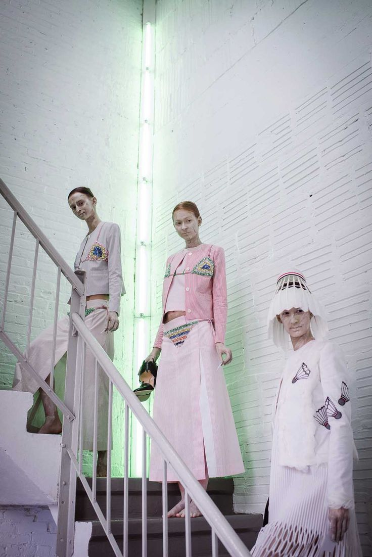 The Prettiest Pics From Fashion Week #refinery29  http://www.refinery29.com/fashion-week-spring-2015-behind-scenes#slide21  The lineup at Thom Browne.