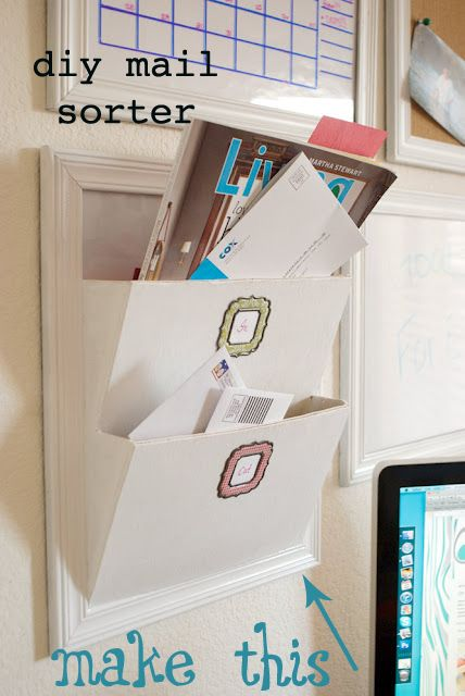 mail sorter: Lady Goats, Diy Mail, Pottery Barns Style, Pottery Barns Inspiration, A Frames, Pictures Frames, Mail Sorter, Ana White, Mail Organization