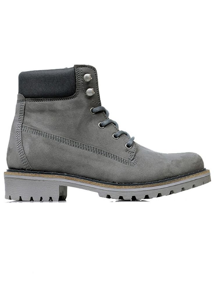 Vegan womens dock boots in grey by Wills London